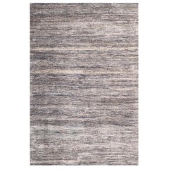 Handmade Modern Rug Brown, Gray and Black Plain by Rug & Kilim