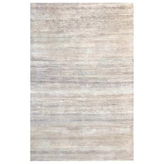 Handmade Modern Rug Gray and Beige Plain by Rug & Kilim