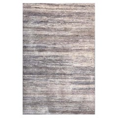Handmade Modern Rug Gray and Black Plain by Rug & Kilim