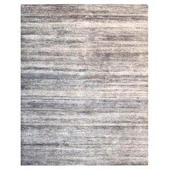 Handmade Modern Rug Gray and Black Plain by Rug & Kilim