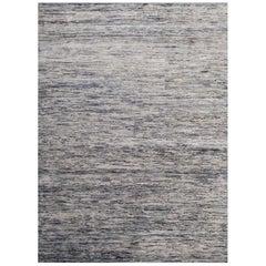 Handmade Modern Rug Gray and Black Plain Mix by Rug & Kilim