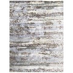 Handmade Modern Rug Gray and Green Plain by Rug & Kilim