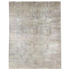 Handmade Modern Rug, Smooth Grey Color Design 3,50 x 2,50 M