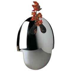 """Handgefertigte Moderne Versilberte Vase """"Ormaggio a S. Dali"""" von G. Malimpensa für Mesa"""