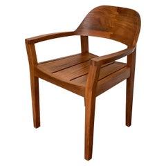 Handmade Modern Style Carribean Rosewood Armchair