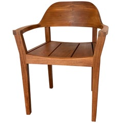 Handmade Modern Style Royal Mahogany Armchair