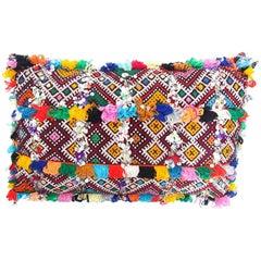 Handmade Moroccan Multicolored Kilim Style Pillow
