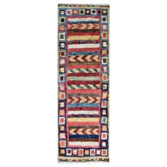 Moroccan Rugs Runner Shag Rugs, Pink and Red Primitive Handmade Carpet for Sale