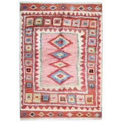 Handmade Carpet for Sale Moroccan Rugs, Shag Rugs, Pink Primitive Oriental Rug