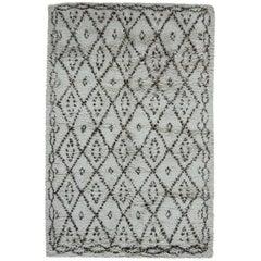 Handmade Moroccan Wool Rug with Geometric Tribal Design
