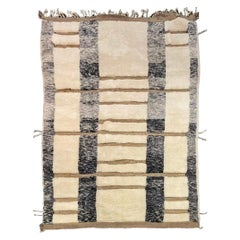 Handmade Moroccan Wool Rug with High Low Pile Texture by Gordian