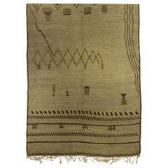 Handmade Moroccan Wool Rug with Tribal Design