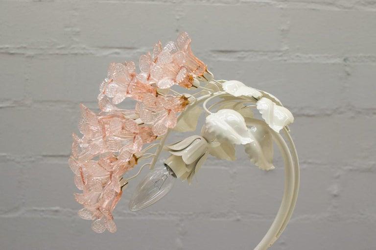 Handmade Murano Flower Blossoms Table Lamp, 1960s For Sale 3