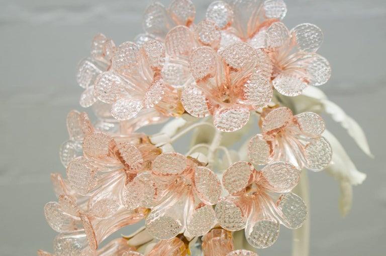Handmade Murano Flower Blossoms Table Lamp, 1960s For Sale 6