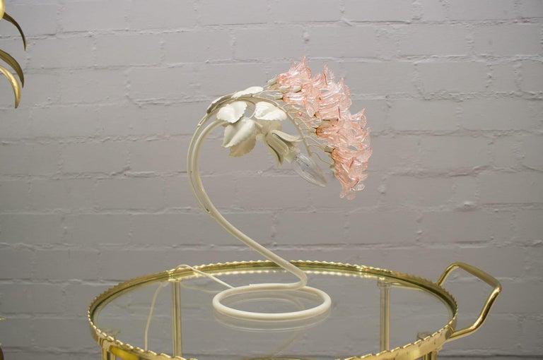 Handmade Murano Flower Blossoms Table Lamp, 1960s For Sale 1