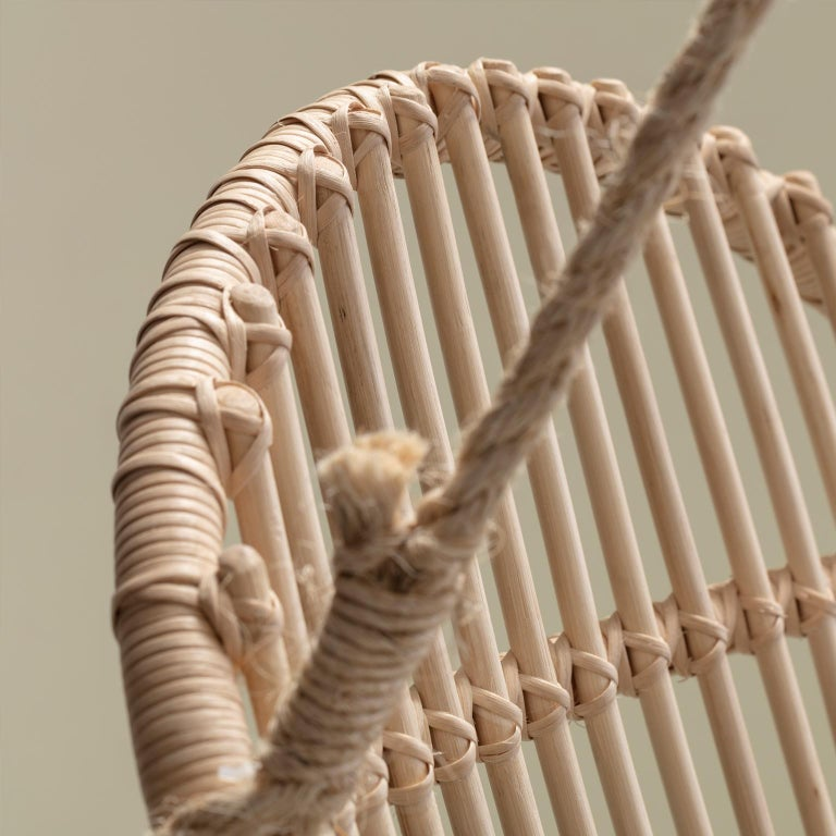 Mexican Handmade Natural Rattan Cala Hanging Chair