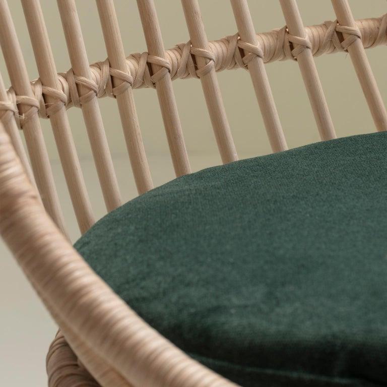 Molded Handmade Natural Rattan Cala Hanging Chair