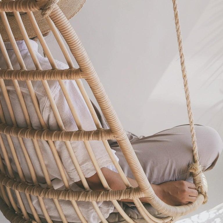 Handmade Natural Rattan Cala Hanging Chair 1