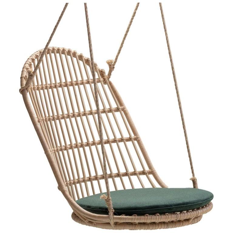 Handmade Natural Rattan Cala Hanging Chair