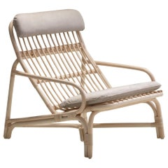 Handmade Natural Rattan Camelia Lounge Chair 'Cushioned'