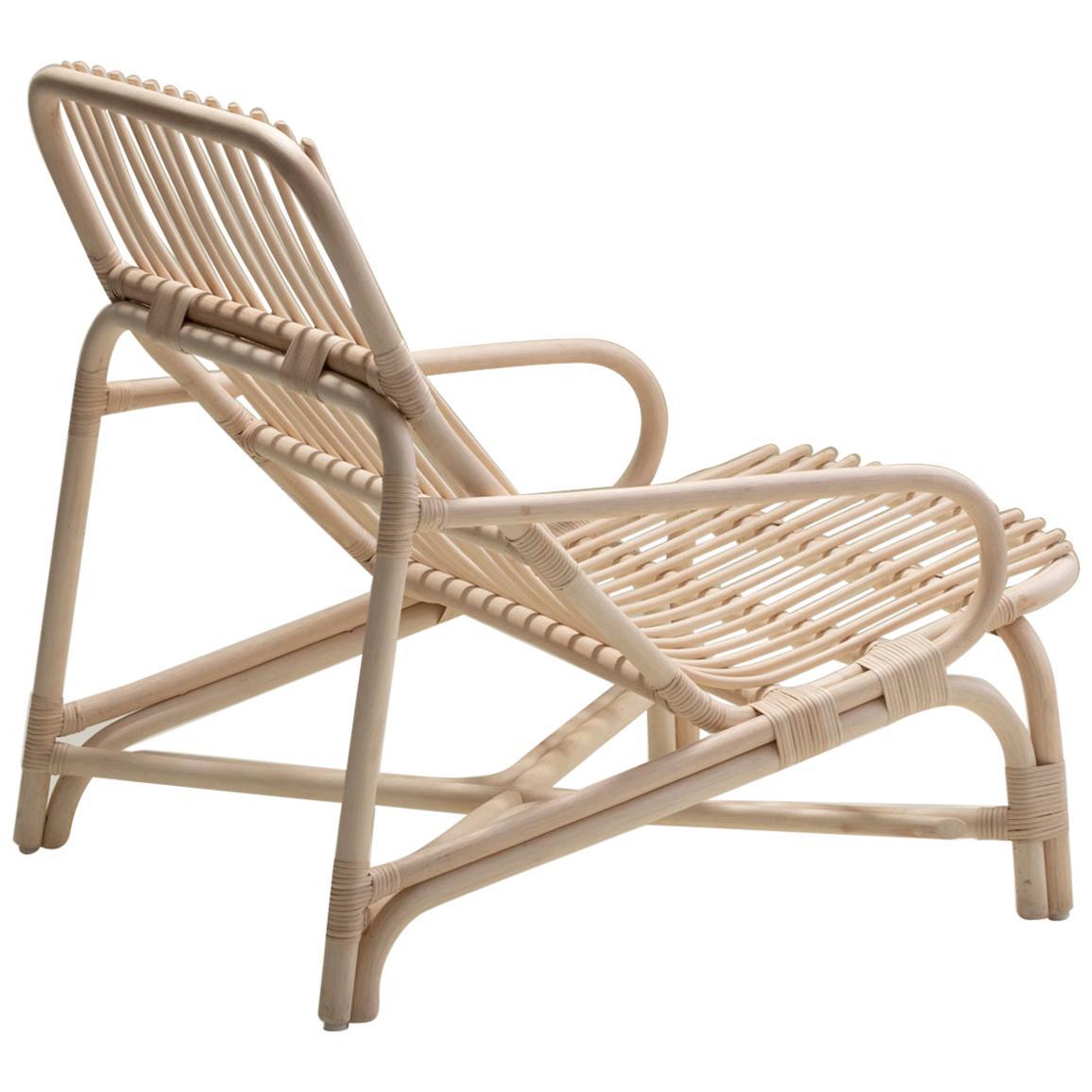 Handmade Natural Rattan Camelia Lounge Chair