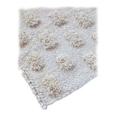 Handmade Natural Wool Cut Pile Organic Modern Rug, in Stock