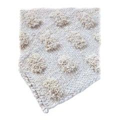 Handmade Natural Wool Cut Pile Organic Modern Rug, in Stock