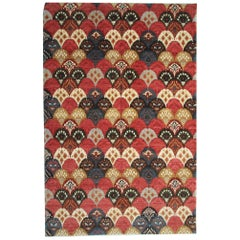 Handmade Oriental Carpet, Modern Oriental Rug, All-Over Design