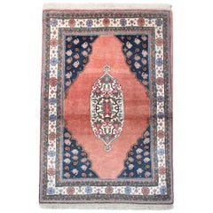 Handmade Oriental Carpet Rug, Traditional Pink Wool Area Rug
