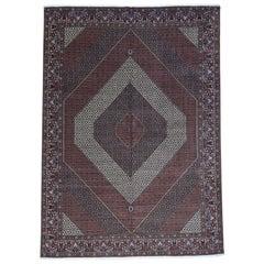 Handmade Oversize Persian Bijar 400 Kpsi Wool and Silk Rug