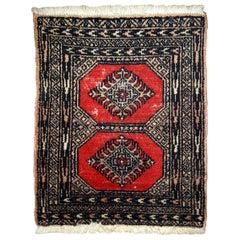 Handmade Pakistani Lahore Berber Rug, 1970s, 1C635