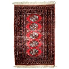 Handmade Pakistani Lahore Rug, 1960s, 1C627