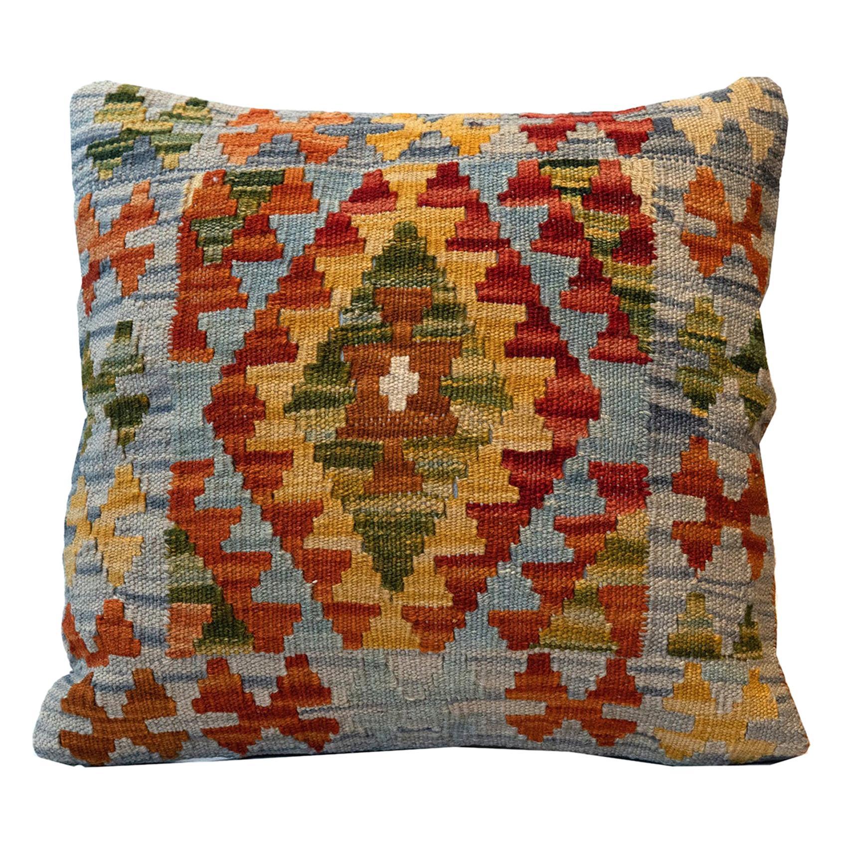 Handmade Pillow Case Geometric Cushion Cover Wool Zig - Zag