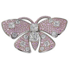 Handmade Pink Butterfly Brooch