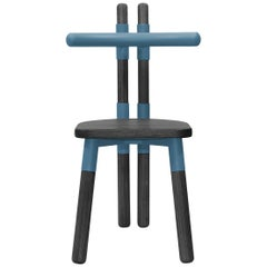 Handmade PK12 Chair, Carbon Steel Structure, Ebonized Wood Legs by Paulo Kobylka