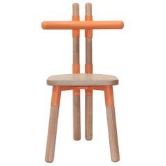 Handmade PK12 Chair, Carbon Steel Structure & Turned Wood Legs by Paulo Kobylka