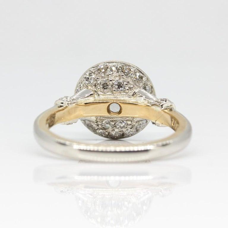 Handmade Platinum and 18 Karat Gold Antique Diamonds Ring 3