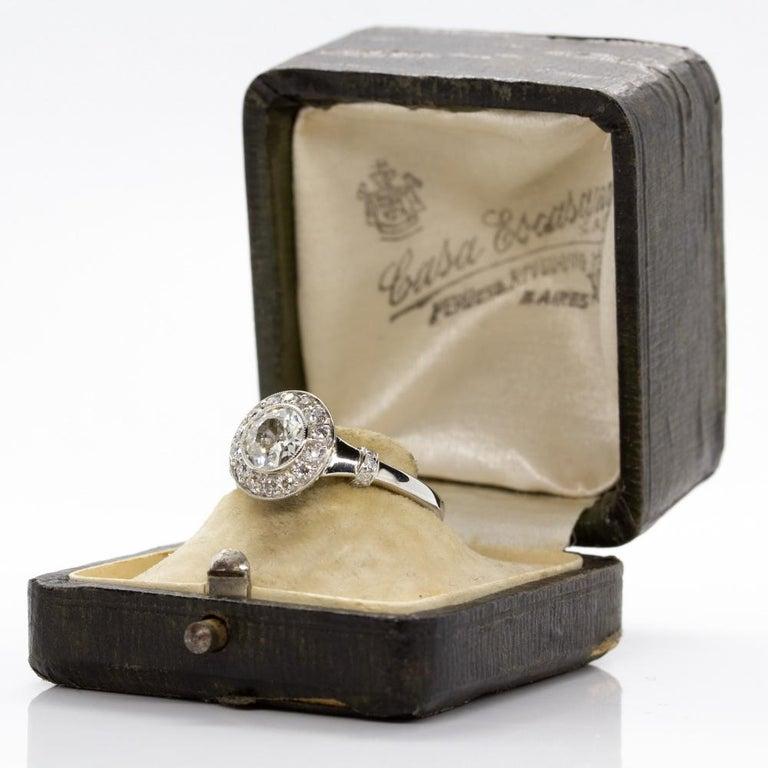 Handmade Platinum and 18 Karat Gold Antique Diamonds Ring 6