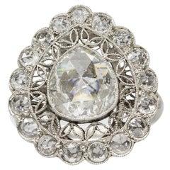 Handmade Platinum Diamonds Ring