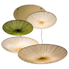 Handmade Pleated Silk Stand By Quartet Chandelier