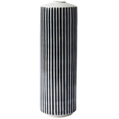 Handmade Porcelain Vase, Striped, Modular, Contemporary, Modern