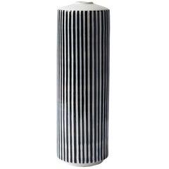 Handmade Porcelain Vase, Striped, Modular, Contemporary, Modern