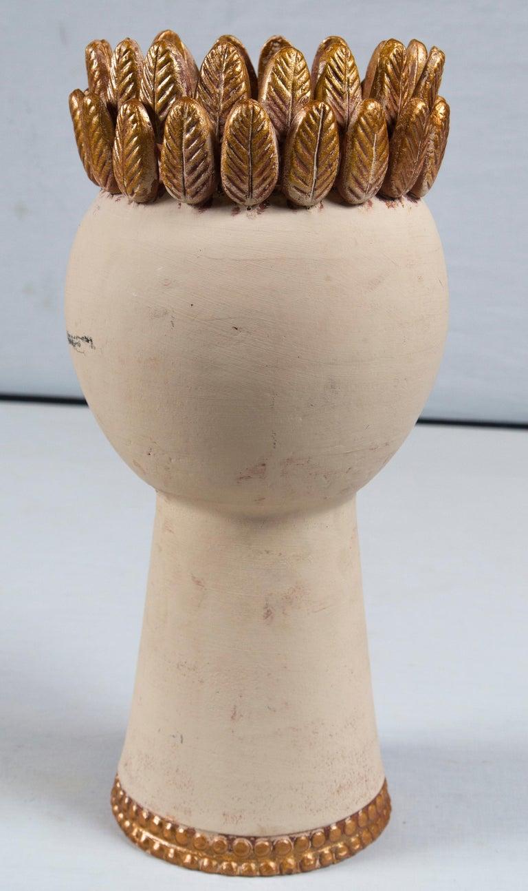 Handmade Pottery Head Vase For Sale 1