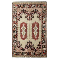 Handmade Rug Antique Carpet Turkish Living Room Rug, Traditional Oriental Rugs