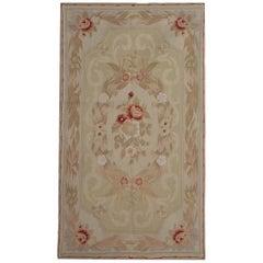 Handmade Rug, Floor Patterned Rug, Aubusson Rugs, Needlepoint Flat-Wean