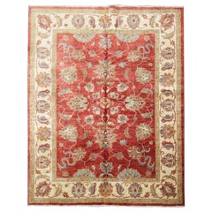 Handmade Rug Traditional Floral Ziegler Style Carpet Living Room Rugs for Sale