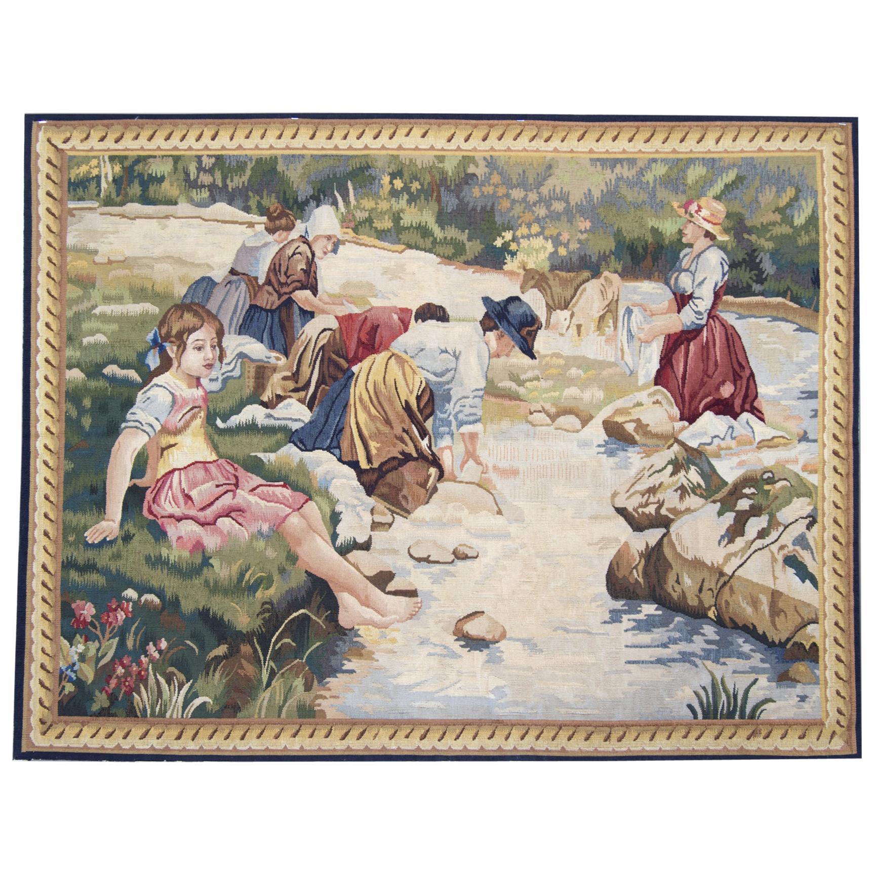 Handmade Rugs Needlepoint Carpet Tapestry Wall Hanging Rug
