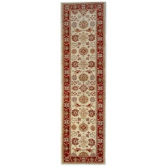 Handmade Carpet Runner Oriental Rugs, Beige Floral Stair Runner for Sale