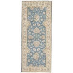 Handmade Runner Rugs, Sky Blue Ziegler Style Blue Carpet Runners