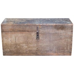 Handmade Rustic Tool Chest with Antique Pad Lock, circa 1920